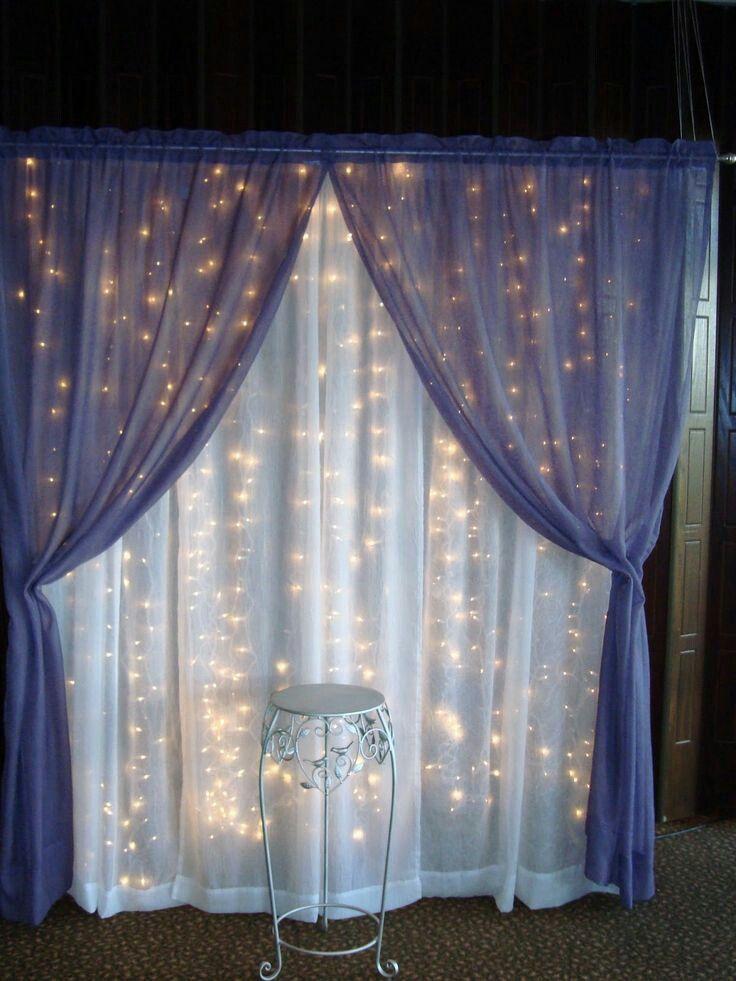 Decorar una fiesta con cortinas de distintos tipos de tela puede - cortinas decoracion