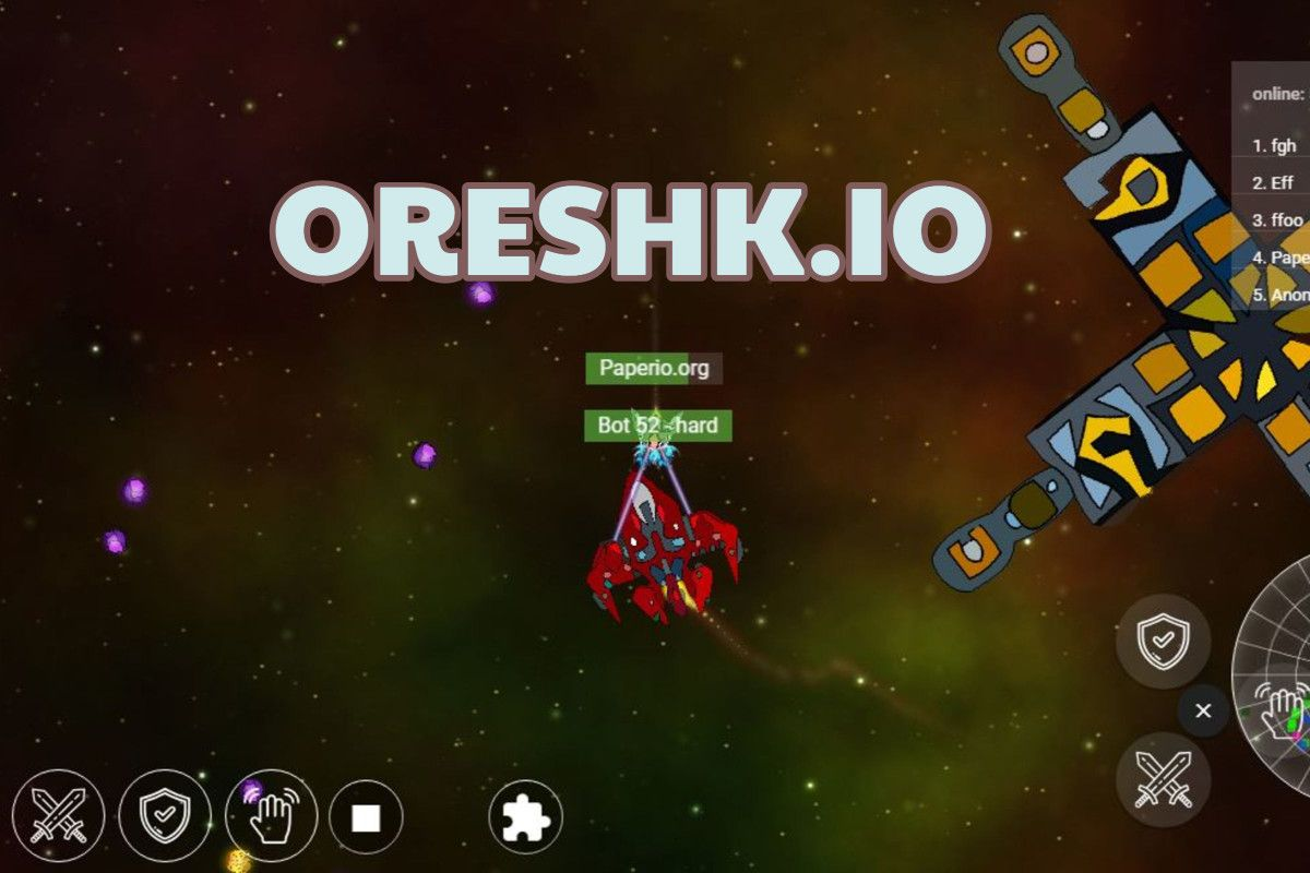 Oreshk io is a new shooter multiplayer game in which you need to get