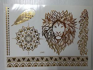 For-Temporary-Metallic-Tattoo-Gold-Silver-Black-Flash-Tattoos-Inspired ...
