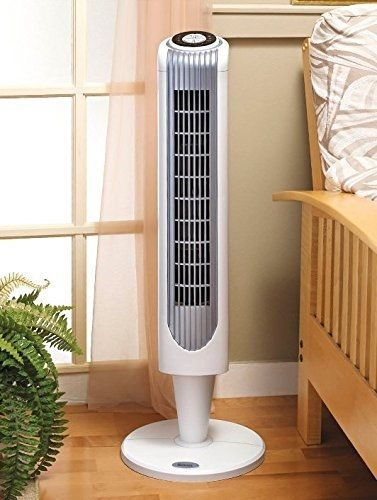 New Portable Oscillating Tower Fan 3 Speed Remote Control