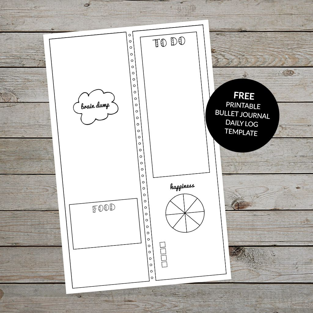 Bullet Journal Daily Log Free Printable Template Plus Tips And