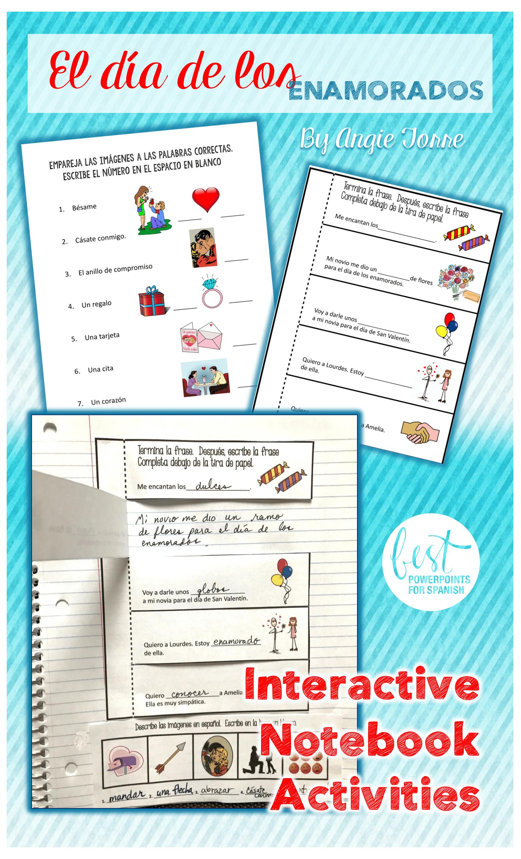 Spanish Interactive Notebook Activities
