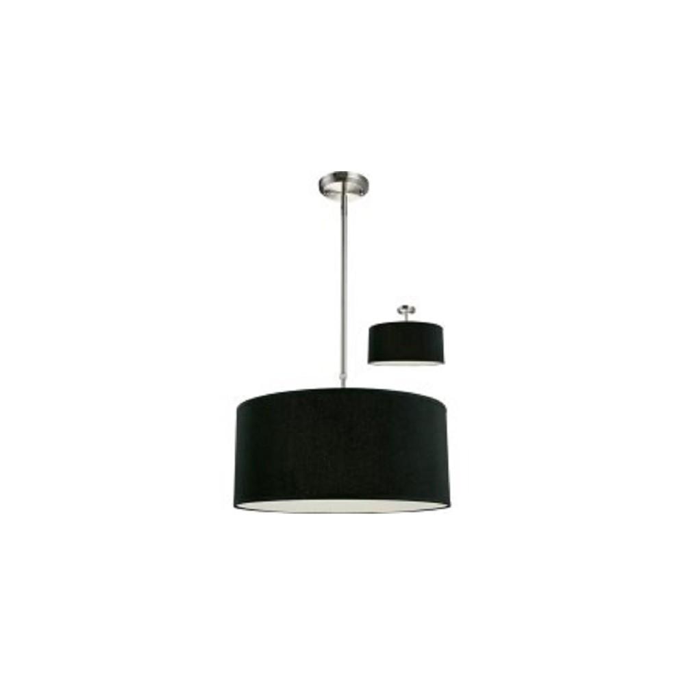 Pendant ceiling lights with black glass set of zlite black