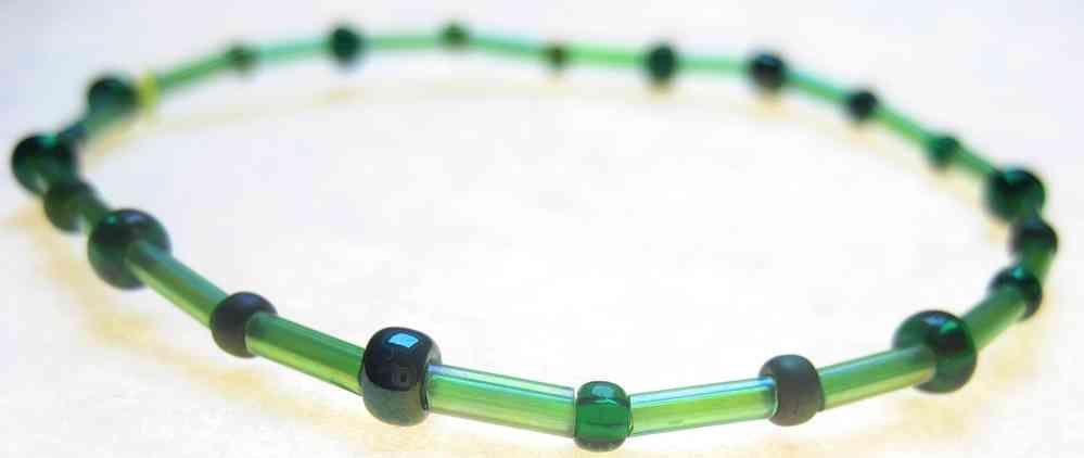 Mixed brazalete de cuentas verde - Catherinerussel.com