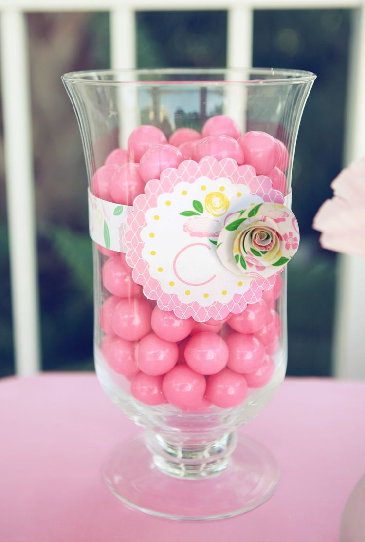 Jar of Gumballs for Pink Candy Buffet http://www.gumball.com/shimmer ...