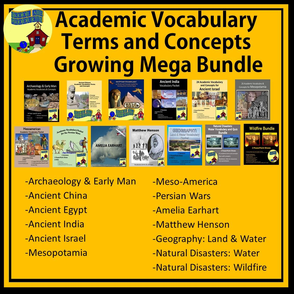 Academic Vocabulary Terms And Concepts Growing Mega Bundle In 2020 Vocabulary Academic Vocabulary Sentence Examples