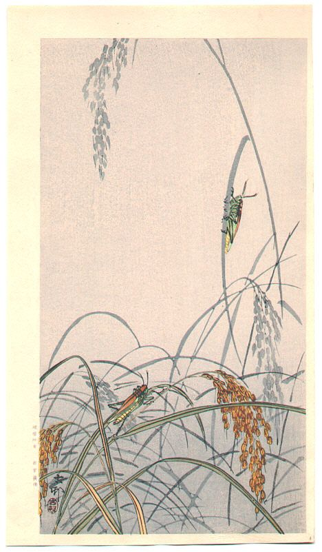 Ohara Koson: Grasshoppers - Early 20th Century