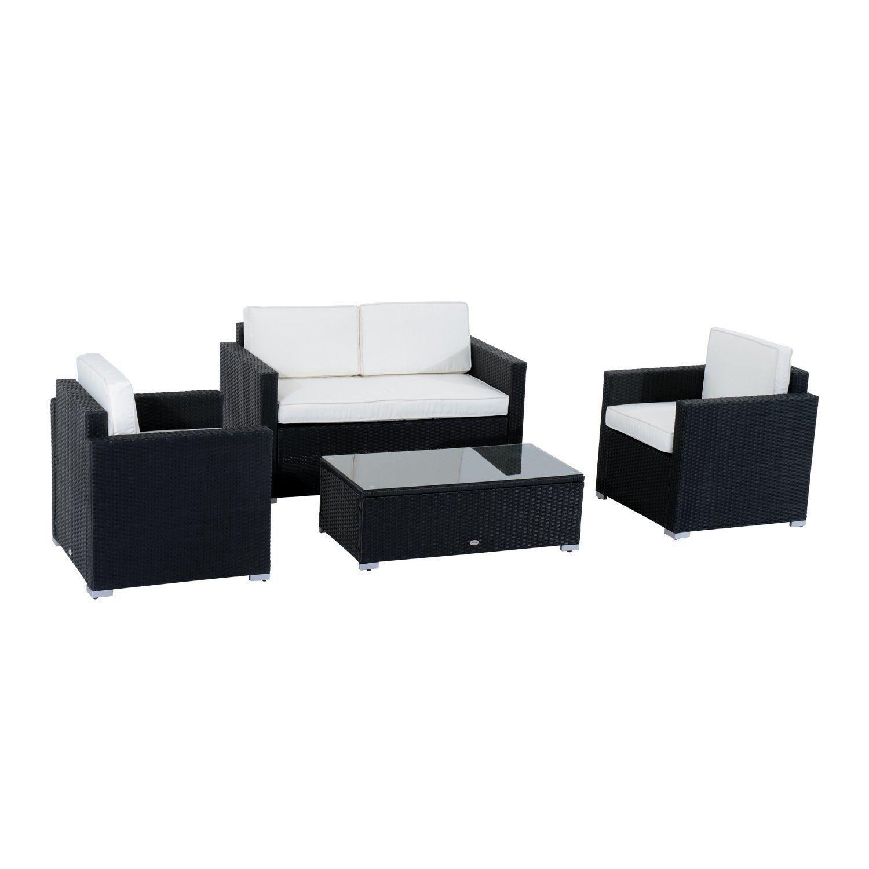 amazoncom patio furniture. Amazon.com : Outsunny 4-Piece Cushioned Outdoor Rattan Wicker Sofa Sectional Patio Furniture Amazoncom M