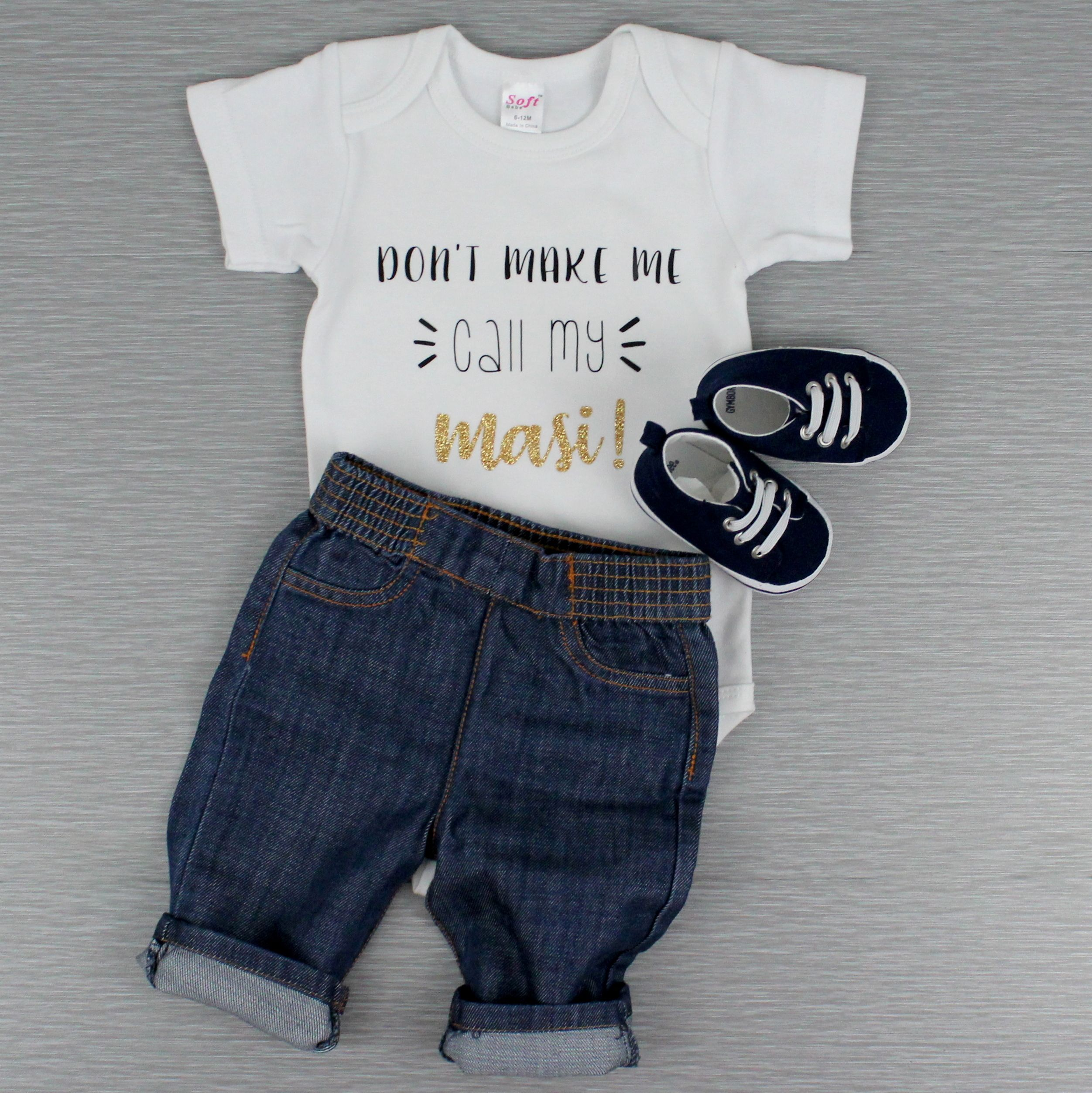 Kids Short Sleeve DONT MAKE ME CALL MY AUNTIE Graphic Tees