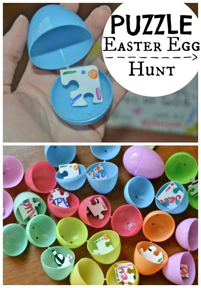 Puzzle Easter Egg Hunt.  Much healthier than candy!