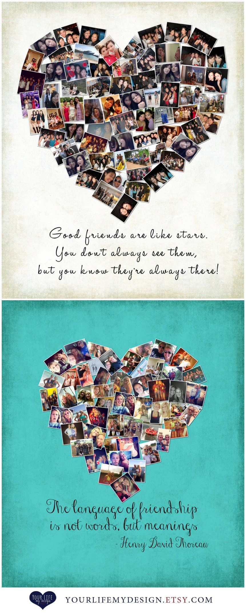 Gift For Best Friends Personalized Photo Collage Sister Sorority Gifts Birthday Maid Of Honor