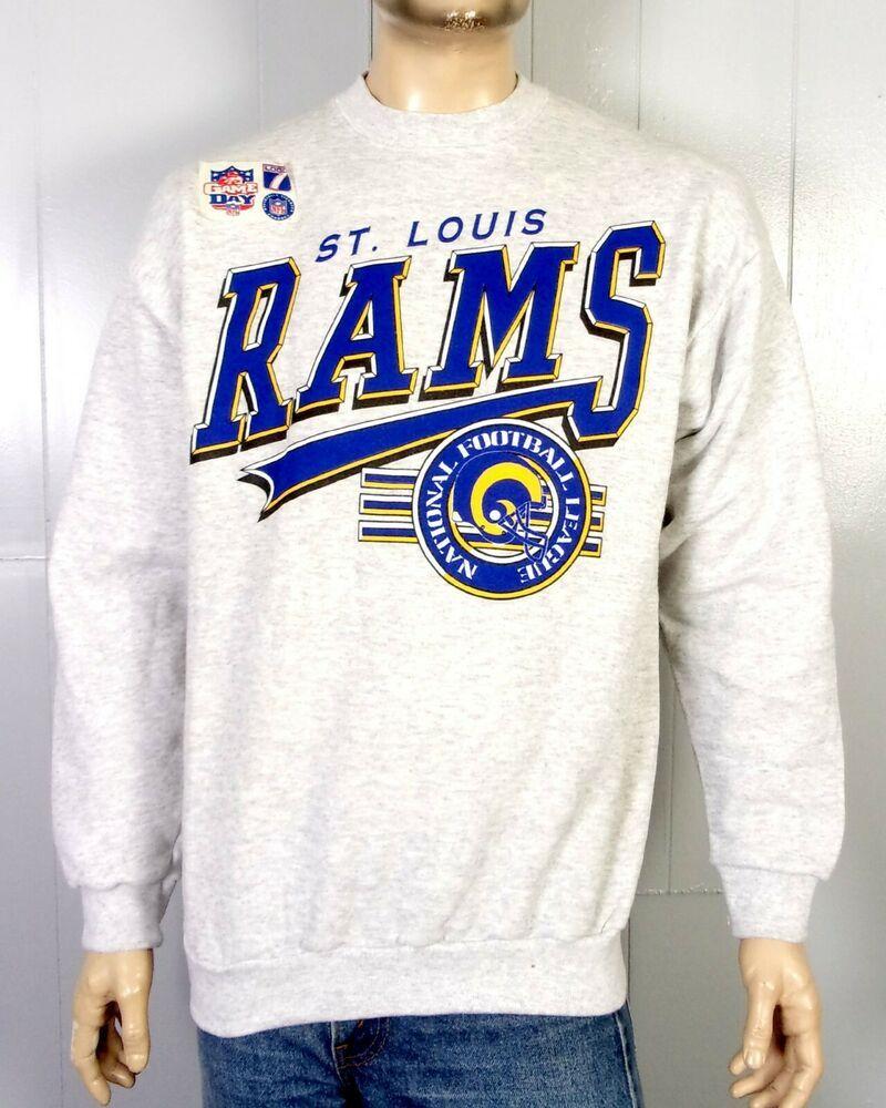 vtg 90s NOS deadstock St Louis Rams NFL Sweatshirt LA Los Angeles Faulk  Warner L 2bea53f09