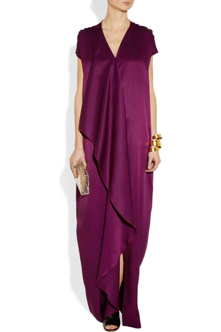 The Row Priston silk-satin maxi dress: Minimal & Classic | Nordhaven ...