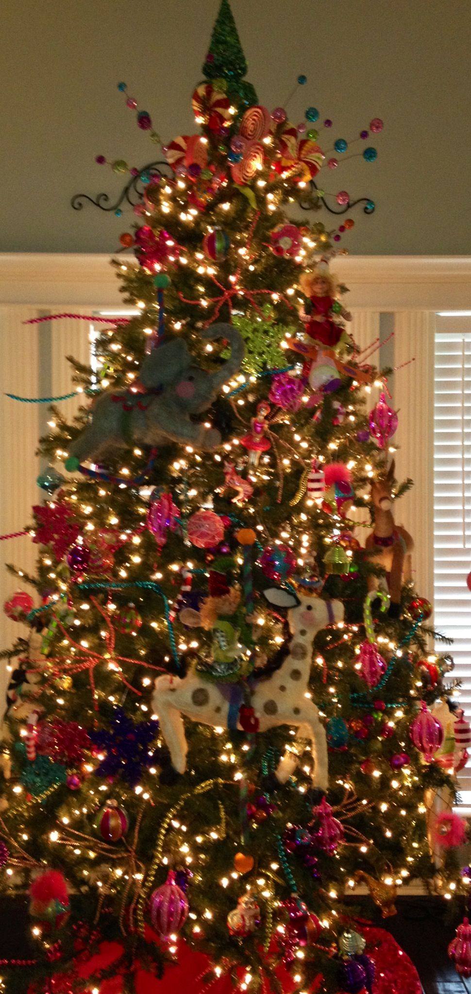 Our Circus themed tree (With images) | Christmas tree ...