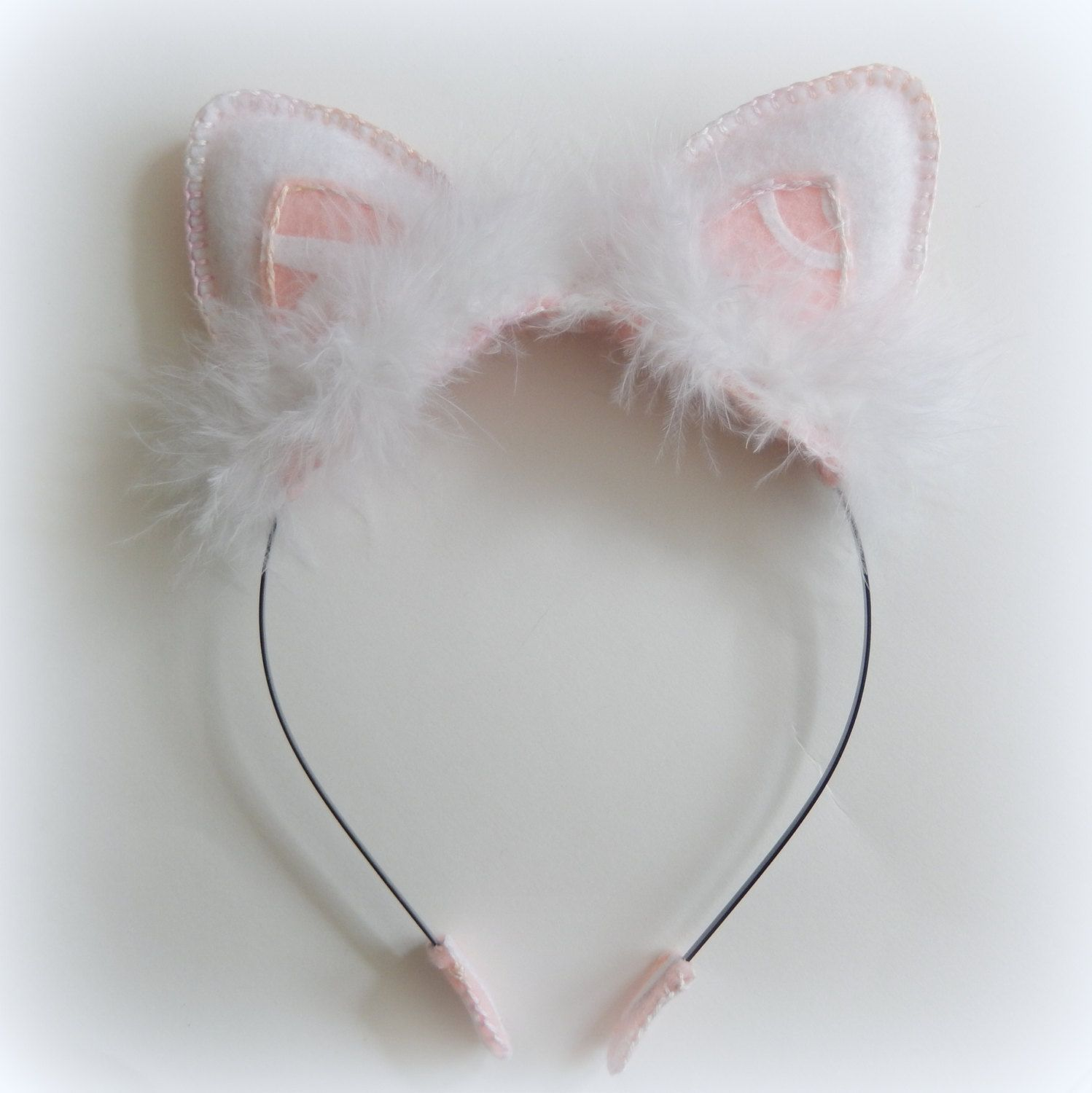 Ballerina Kitty Cat Pink and White Angel Costume by happygonoggin, $25.00