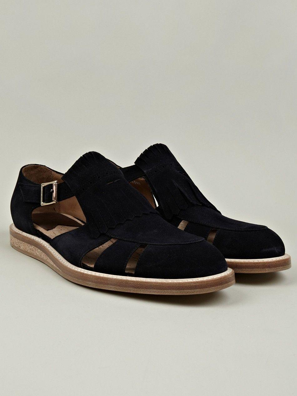 0fbf5292ff8 Paul Smith Spring Summer 2013 Fringe Leather Sandals | cool shoes | Shoes,  Leather sandals, Designer sandals