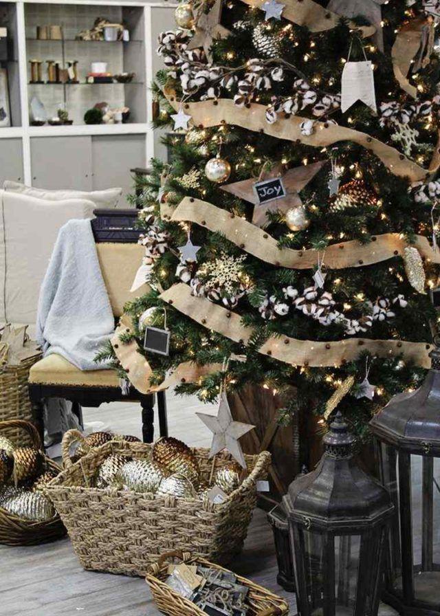 Arboles de navidad elegantes con adornos christmas - Adornos navidenos elegantes ...