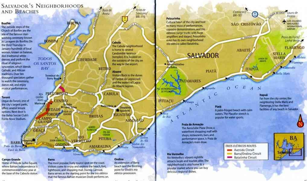 salvador bahia brazil map Map Of Salvador De Bahia Brazil Cities Map Pictures The Neighbourhood salvador bahia brazil map
