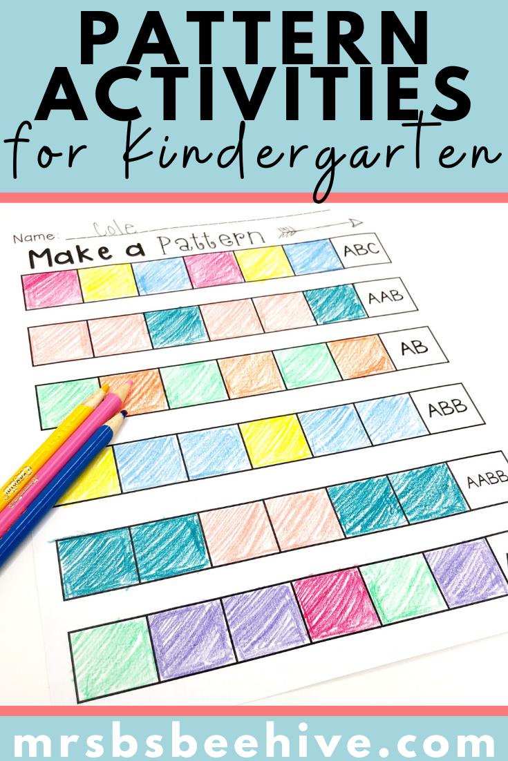 Pattern Sorts And Worksheets Math Sort Kindergarten Resources Worksheets [ 1102 x 735 Pixel ]