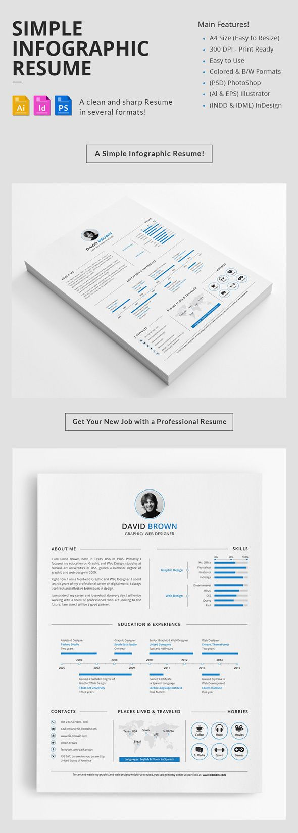 Minimal Resume Template Design  In Design Layout Ideas