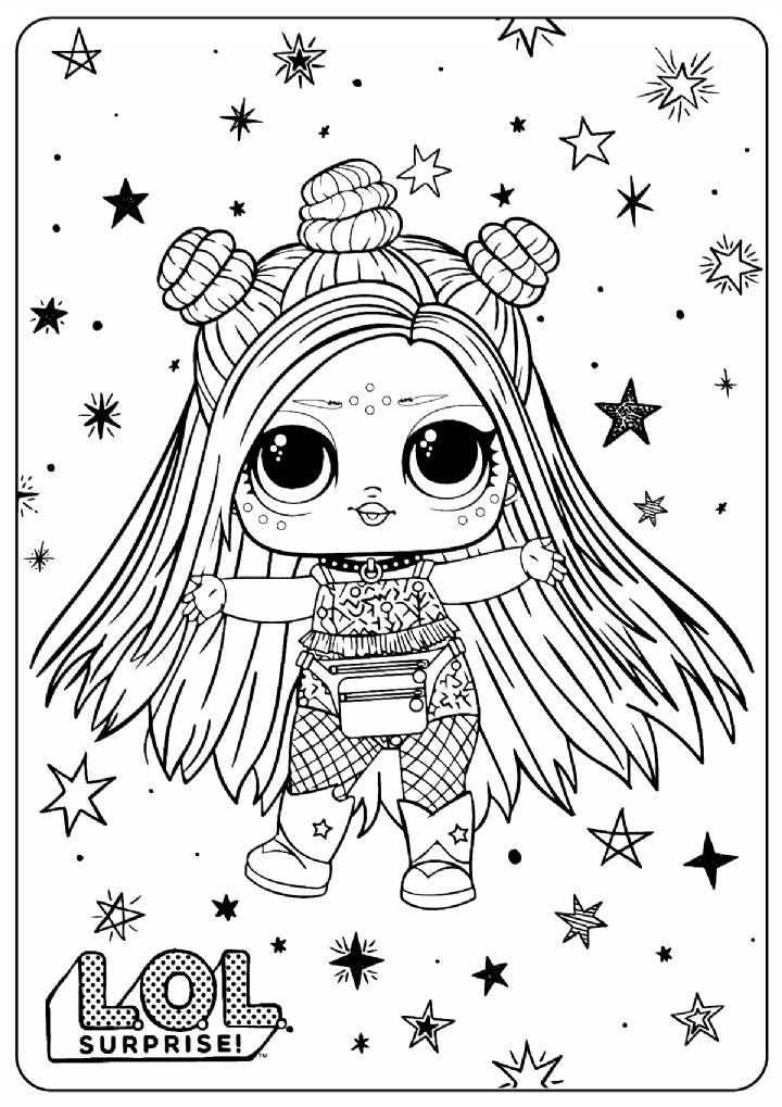 Free Printable Lol Surprise Hairgoals Coloring Pages Lol Lolsurprise Colorin Coisas Para Colorir Desenhos Infantis Para Colorir Desenhos Fofos Para Colorir