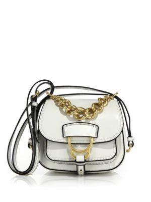 MIU MIU Dahlia Small Madras Leather Saddle Bag. #miumiu #bags #shoulder bags #lining #suede #
