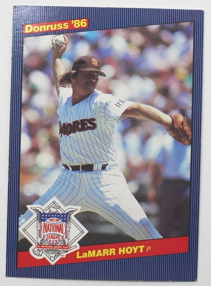 Donruss Large Baseball Card Lamarr Hoyt 1986 Card 9 Ebay