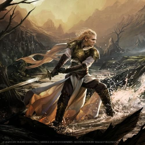 Glorfindel <><> *squees because this art is just so awesome*