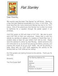Flat Stanley Letter Education Pinterest Flat Stanley Flat