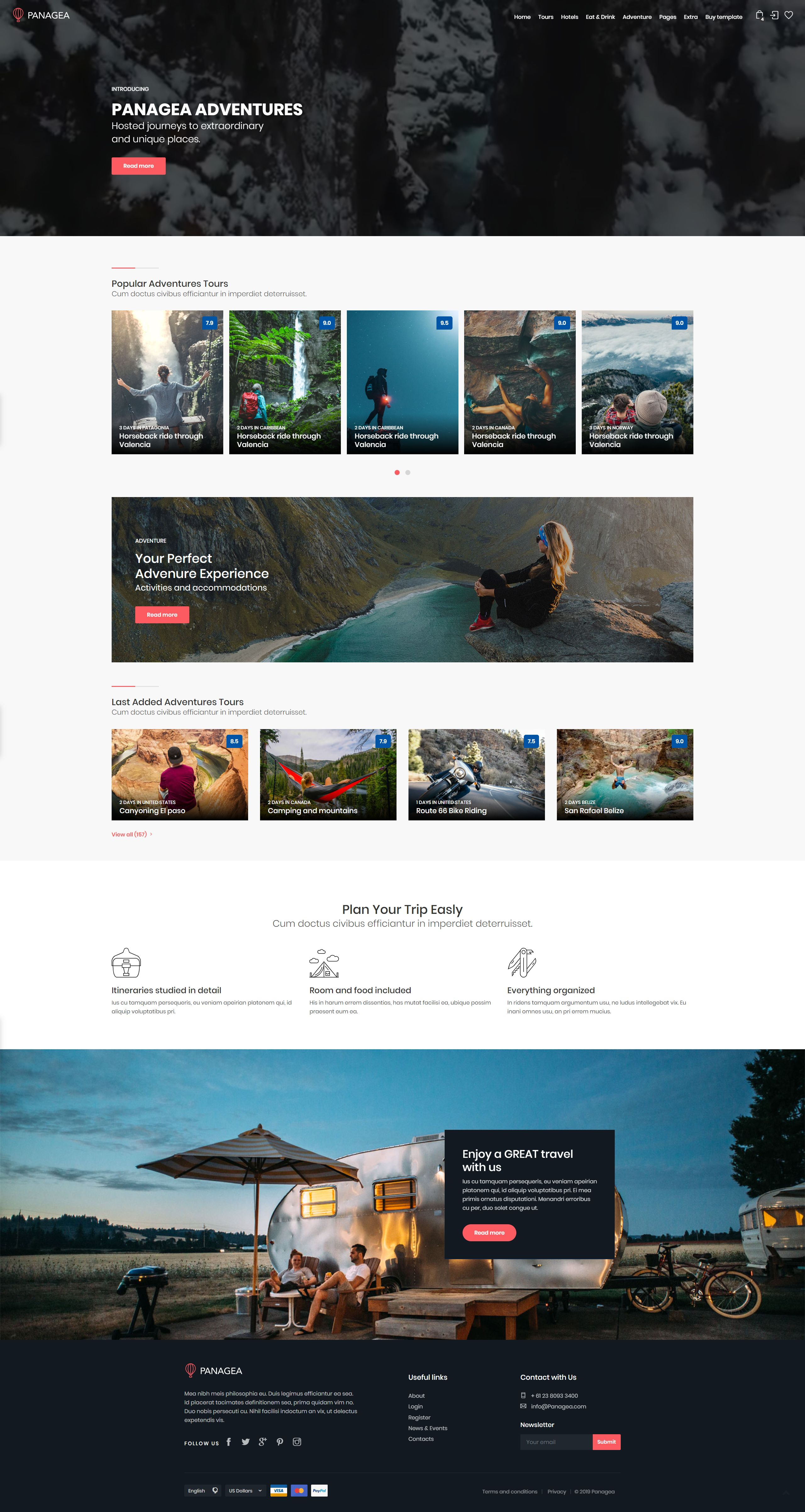 Travel And Tours Listings Html Website Template In 2020 Travel Website Templates Travel Website Design Travel Tours