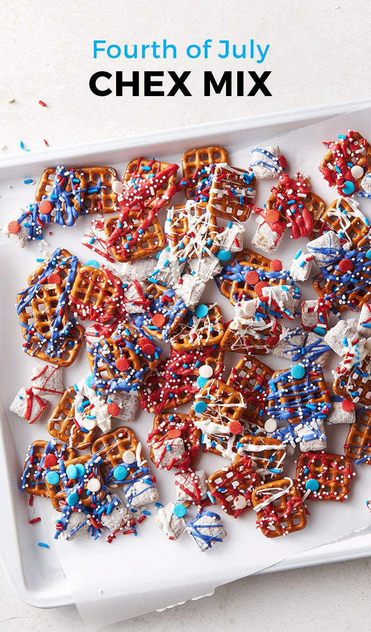 fourth of july chex mix recipe party entertaining recipes pinterest patriotic party. Black Bedroom Furniture Sets. Home Design Ideas