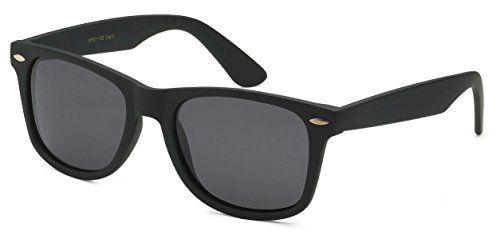 57a3e43f6719 Sunglasses Classic 80 s Vintage Style Design (Black Matte