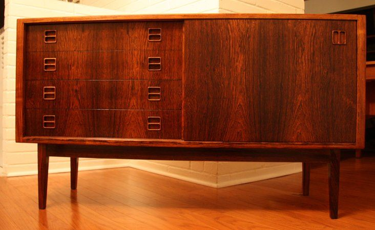 Credenza Danese : Danish modern rosewood sideboard credenza