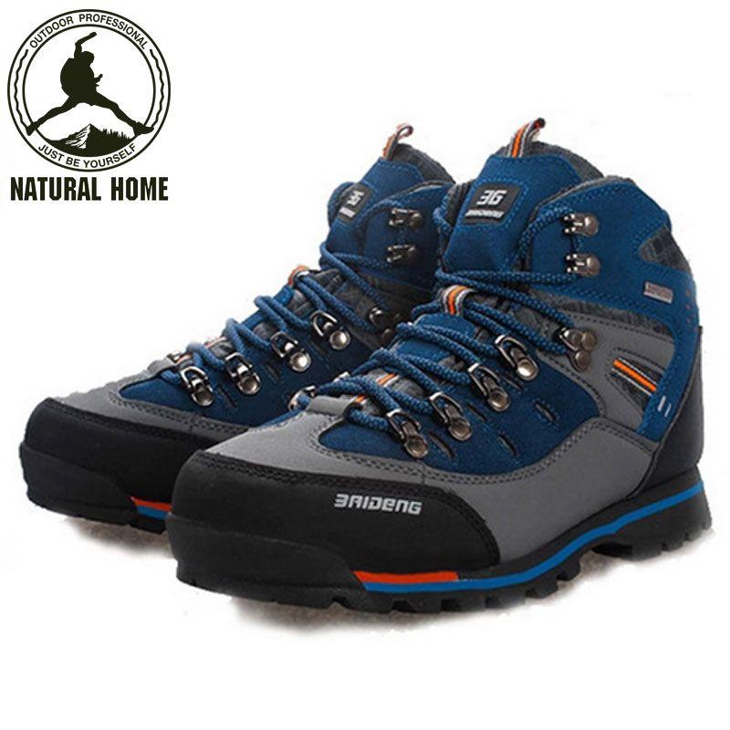 [NaturalHome] Marca Al Aire Libre de Senderismo Botas de Trekking Impermeables Boot Marca Deporte de Los Hombres Zapatos de Escalada de Montaña Senderismo Zapatos Botas