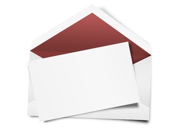 Blank Letter And Envelope | Blank White Envelope And Letter Paper