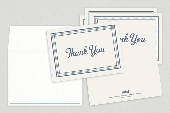 Classic Formal Thank You Card Template Inkd Thank You Card Template Thank You Cards Appreciation Message