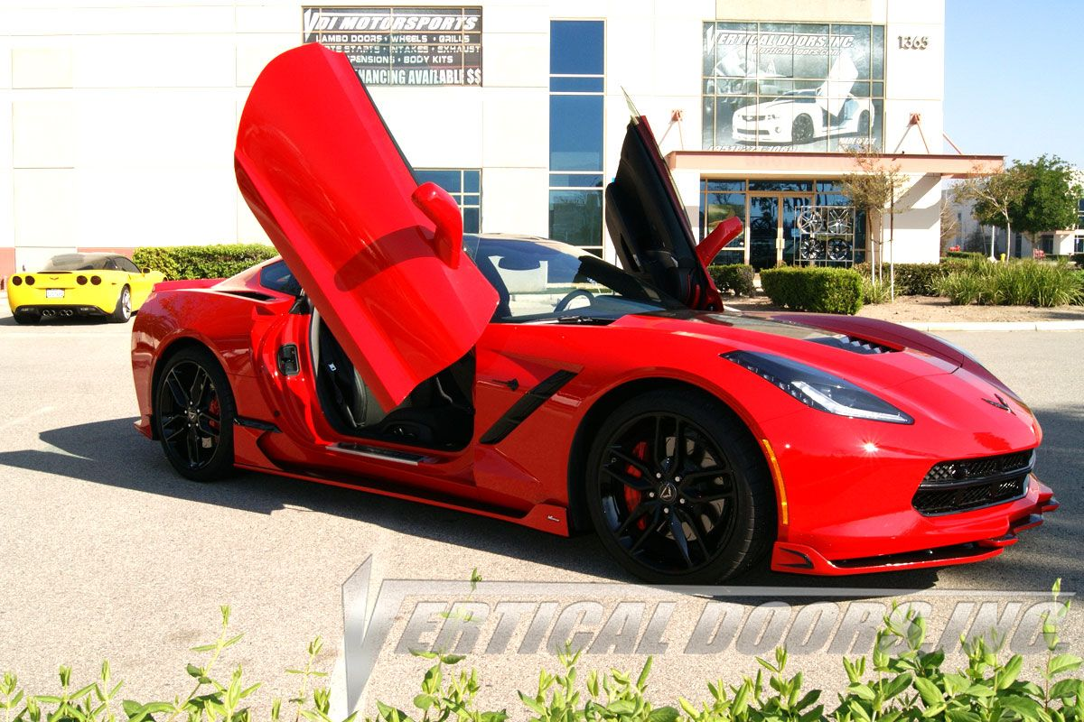 Check out the Chevrolet Corvette C7 with the Stylish and Strongest lambo doors by Vertical Doors & Check out the Chevrolet Corvette C7 with the Stylish and Strongest ...