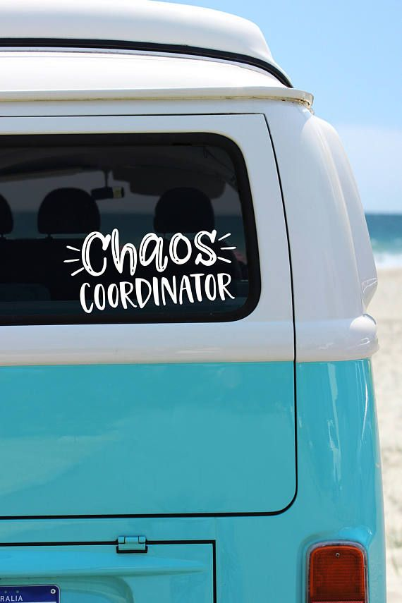 Hey i found this really awesome etsy listing at https www etsy com listing 568498736 chaos coordinator vinly car decal