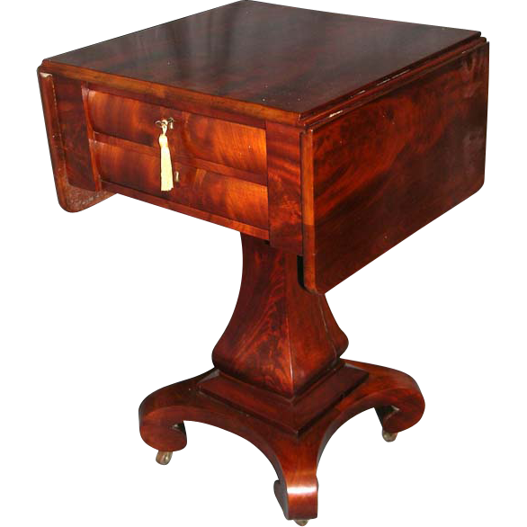 Period American Empire Work Stand In Mahogany from circaantiquesltd