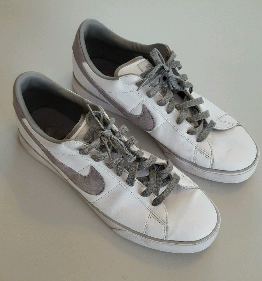 Men's Nike BRS Sweet Classic Low Top White Leather Sneakers Size 13 Med  Shoes