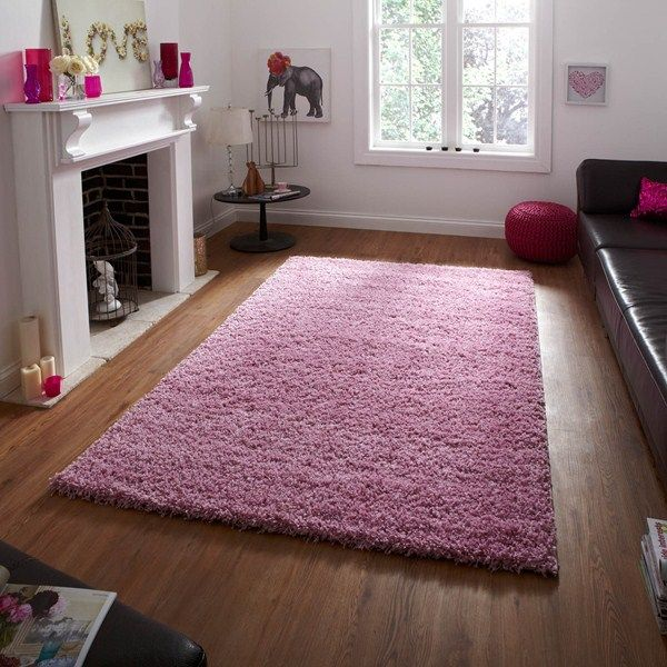 Superb Vista Shaggy Rugs 2236 Pink Buy Online From The Rug Seller Uk Home Design Ideas