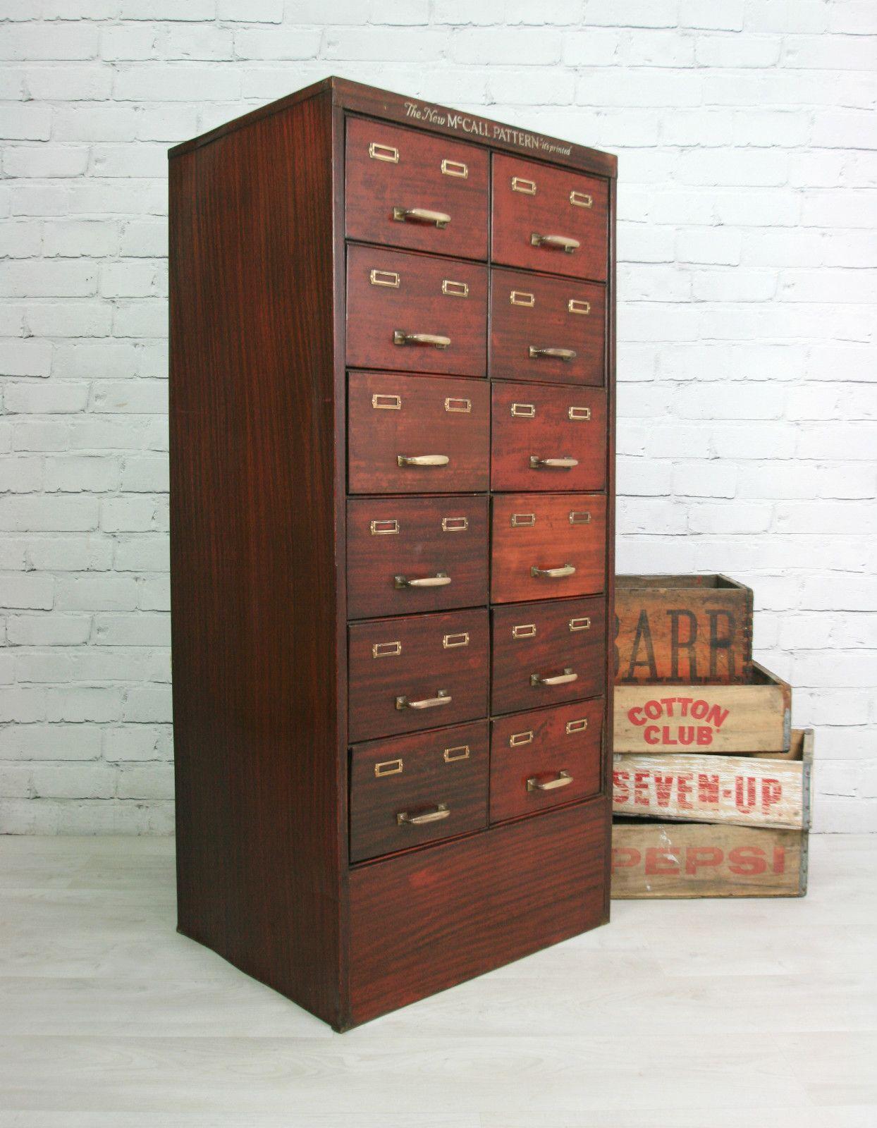 Vintage Industrial Steel Factory Filing Cabinet Drawers Cd Storage  # Meuble Tv Dangle