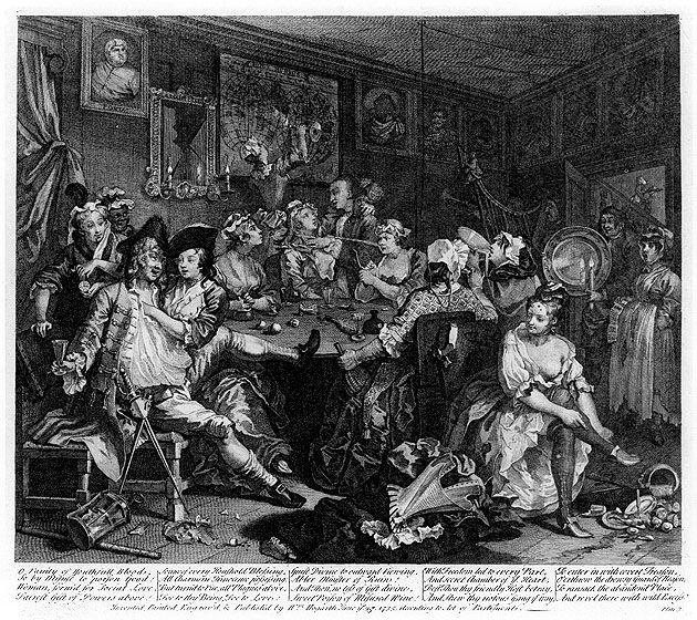 William Hogarth - A Rakes Progress - Plate 3 - The Tavern -7123