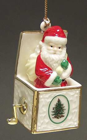 Jack In The Box Santa - Boxed in the Spode Christmas Tree Misc-Orn pattern by Spode China