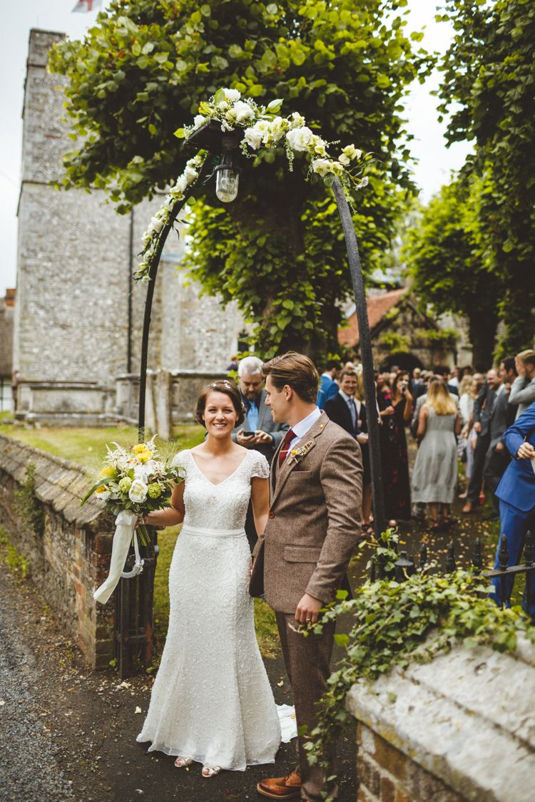 Relaxed country yellow tipi wedding in hampshire wedding dresses