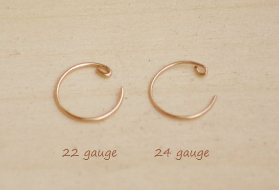 Rose Gold Filled Nose Ring Hoop 22g Or 24g Free Shipping To Us