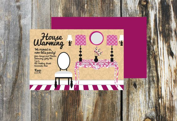 House Warming/ Moving/ House Party Invitation 20 Invitations 20 Envelopes on Etsy, $30.00