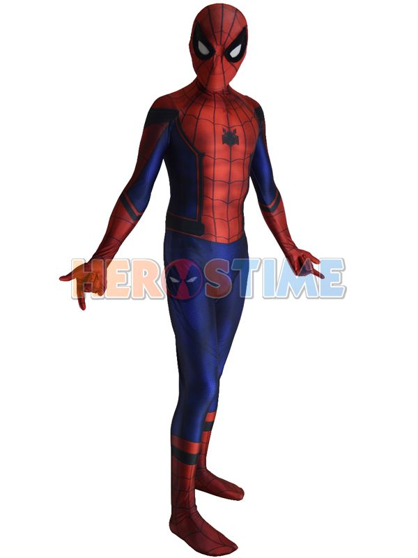 Civil War Spiderman Costume 3D Shade Cosplay Suit | Isaac Spiderman ...