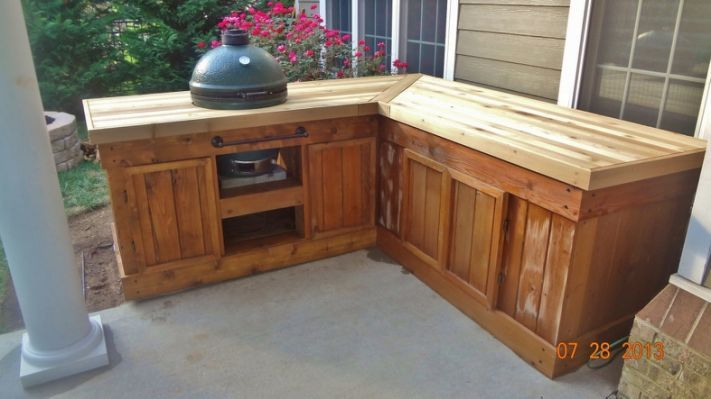 Big Green Egg Corner Table Plans In 2019 Big Green Egg