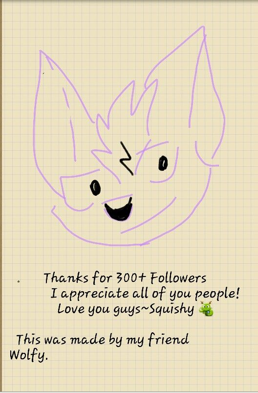 Hey people thank you so much for all of the following I never expected to get more than 3 people following me thanks so much~ Squishy